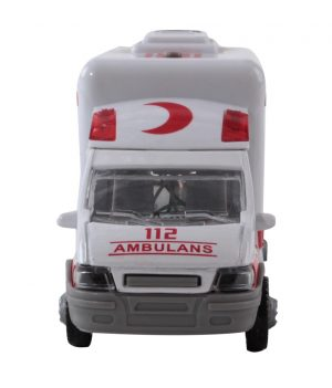 Pilli Işıklı Metal Ambulans