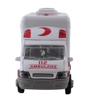 Pilli Işıklı Metal Ambulans