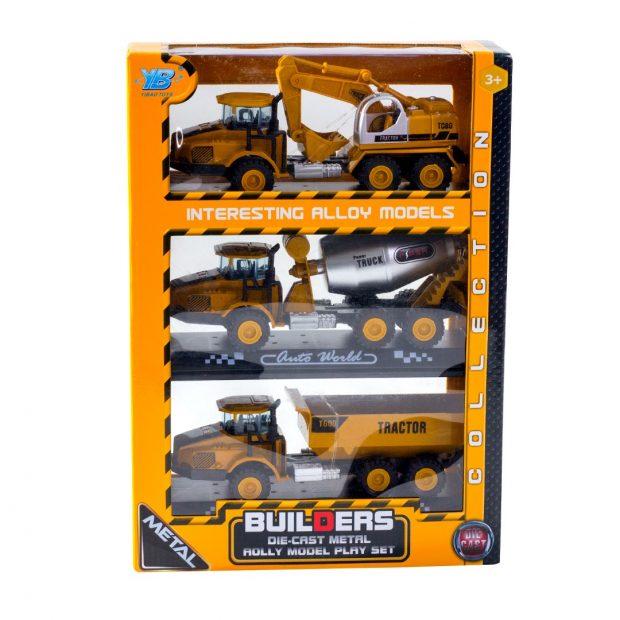 3lü Metal İnşaat Araba Seti