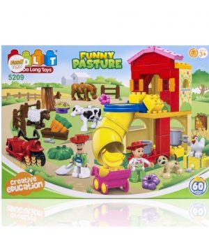 60 Parça Blok Çiftlik Seti