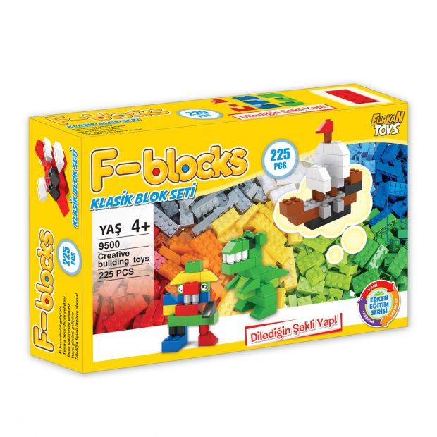 F-BLOCKS KLASİK BLOK SETİ 225 PCS