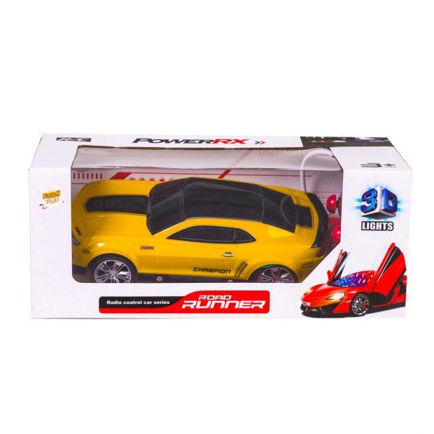 Pilli 3D Runnur Araba – Sarı
